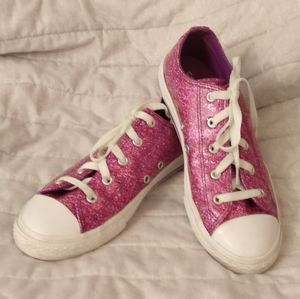 Converse Pink Glitter (see size notes)